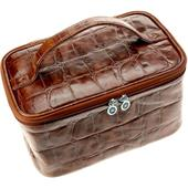 Hans Kniebes - Coccodrillo - Beauty-Case, buffel-kalfsleer croco-reliëf, 265 x 165 x 140 mm