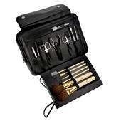 Hans Kniebes - Wash bags - 8-Piece Nickel-Plated Full-Grain Nappa Cowhide Leather Toiletry Bag