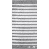 JOOP! - Classic Stripes - Silver bath towel