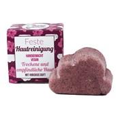 Lamazuna - Gesichtspflege - Trockene und Empfindliche Haut Feste Hautreinigung mit Hibiskus Duft