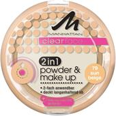 Manhattan - Twarz - Clearface 2in1 Powder & Make Up