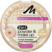 Manhattan - Kasvot - Clearface 2in1 Powder & Make Up