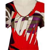 Otto Kern - Tops & Shirts - T-Shirt rot beige
