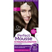 Perfect Mousse - Coloration - 4-5/450 Warmes Braun Stufe 3 Perfect Mousse Schaum-Coloration