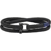 Pig & Hen - Rope Bracelets - Black | Black Salty Slim