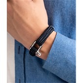 Pig & Hen - Rope Bracelets - Navy | Silver Gorgeous George