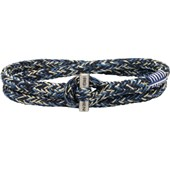 Pig & Hen - Rope Bracelets - Navy-Ivory-Violet Blue | Silver Tiny Tiny