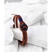 Pig & Hen - Rope Bracelets - Navy-Maple Orange | Black Don Dino