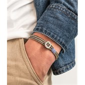 Pig & Hen - Rope Bracelets - Navy Sand | Silver Don Dino