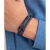 Pig & Hen - Rope Bracelets - Violet Blue-Slate Grey | Black Salty Slim