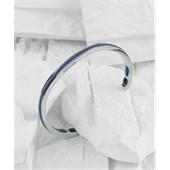 Pig & Hen - Cuff Bracelets - Violet Blue | Silver Navarch 6 mm