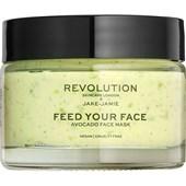 Revolution Skincare - Masken - Jake-Jamie Feed Your Face Avocado Face Mask