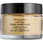 Revolution Skincare - Masken - Jake-Jamie Feed Your Face Cocoa & Oat Mask