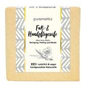 puremetics - Natural soaps - Peelende Fuss- und Handpflegeseife Aloe Vera Mohn