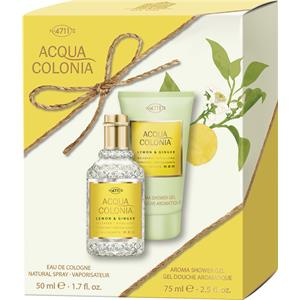 Image of 4711 Acqua Colonia Unisexdüfte Lemon & Ginger Geschenkset Eau de Cologne Spray 50 ml + Aroma Shower Gel 75 ml 1 Stk.