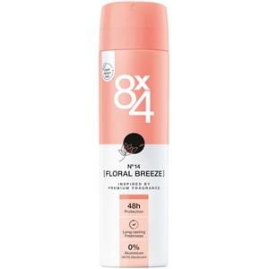 8x4 - Naisille - Deodorant Spray No. 14 Floral Breeze