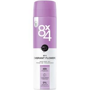 8x4 - Dames - Deodorant Spray No. 4 Vibrant Flower