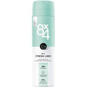 8x4 - Women - Deodorant Spray No. 7 Fresh Lime