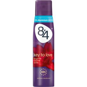 Image of 8x4 Deodorants Damen Key To Love Deodorant Spray 150 ml