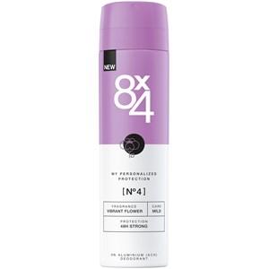 8x4 - Dames - Deodorant Spray Nr. 4 Vibrant Flower