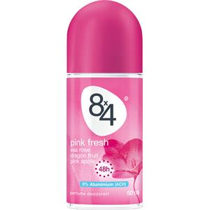 8x4 - Dames - Pink Fresh Deodorant Roll-On