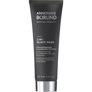Image of ANNEMARIE BÖRLIND Gesichtspflege Beauty Masks 2 in 1 Black Mask 75 ml