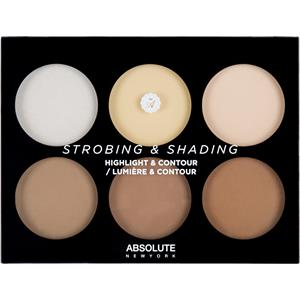 Absolute New York - Complexion - Strobing & Shading Highlight & Contour Palette Light To Medium