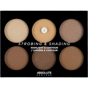 Absolute New York - Complexion - Strobing & Shading Highlight & Contour Palette Tan To Deep