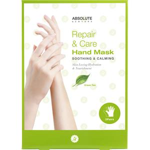 Absolute New York - Vartalonhoito - Repair & Care Hand Mask Green Tea
