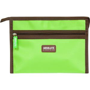 Absolute New York - Kosmetiktasker - Green Microfiber Cosmetic Bag
