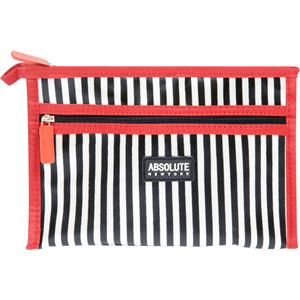 Absolute New York - Kosmetiktaschen - Mono Stripe Satin Cosmetic Bag