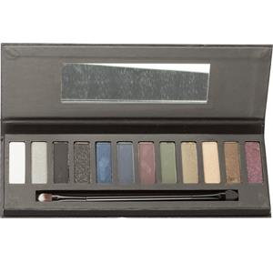 Accentra Make-up Augen SmokyLidschatten-Palette 12 verschiedene Smoky Farben, Box mit Spiegel und Doppelaplikator 1 Stk.