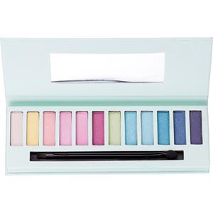 Accentra Make-up Augen TrendyLidschatten-Palette 12 verschiedene Trendy Farben, Box mit Spiegel und Doppelaplikator 1 Stk.
