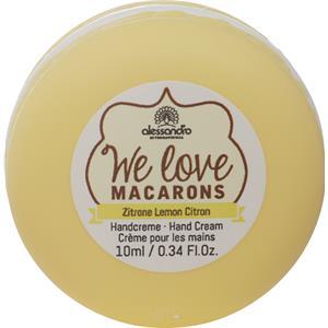 Alessandro - Hand & Nagelpflege - We love Macarons Handcreme Zitrone