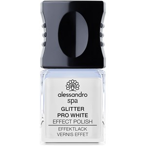 Alessandro - Nail Spa - Coconut Oil Enriched Glitter Pro White Effect Polish