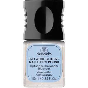 Alessandro Pflege Nail Spa Pro White Glitter