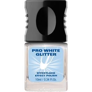 Alessandro - Pflegelacke - Pro White Glitter Lack