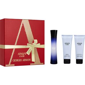 Image of Armani Damendüfte Code Femme Geschenkset Eau de Parfum Spray 50 ml + Shower Gel 75 ml + Body Lotion 75 ml 1 Stk.