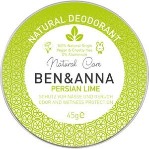BEN&ANNA - Deodorant cream - Natural Deodorant Creme Persian Lime