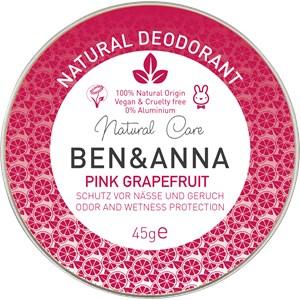 BEN&ANNA - Deocreme - Natural Deodorant Creme Pink Grapefruit
