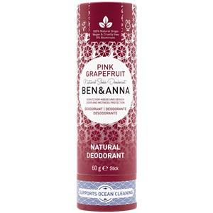 BEN&ANNA - Deodorant PaperStick - Natural Deodorant Stick Pink Grapefruit