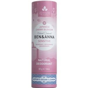 BEN&ANNA Pflege Deodorant PaperStick Natutal Deodorant Stick Sensitive Japanese Cherry Blossom 60 g