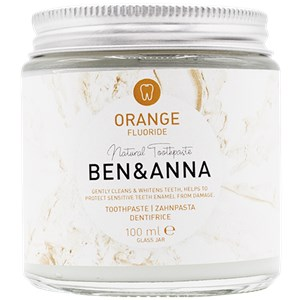 BEN&ANNA - Toothpaste in a glass - Toothpaste Orange with Fluoride
