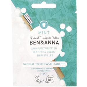 BEN&ANNA - Tooth tablets - Natürliche Zahnputz Tabletten Mint mit Fluoride