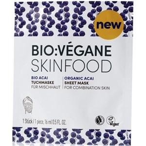 BIO:VÉGANE - Bio Acai - Tuchmaske Skinfood Acai