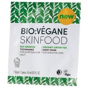 BIO:VÉGANE - Bio Grüntee - Sheet Mask Skinfood Green Tea