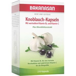 Image of Bakanasan Gesundheitsprodukte Herz-Kreislauf und Durchblutung Knoblauch-Kapseln plus Olive und Weißdorn 210 Stk.