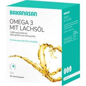 Image of Bakanasan Gesundheitsprodukte Herz-Kreislauf und Durchblutung Lachsöl Omega 3 plus Vitamin E 80 Stk.