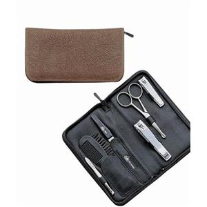 ERBE - Manicure sets - Water Buffalo & Russia Leather Case 6-Piece