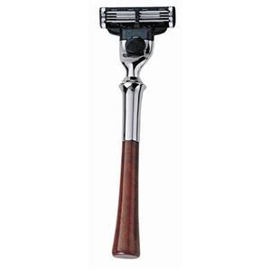 Becker Manicure - Maquinillas de afeitar - Maquinilla de afeitar de madera de raíz, Gillette Mach3